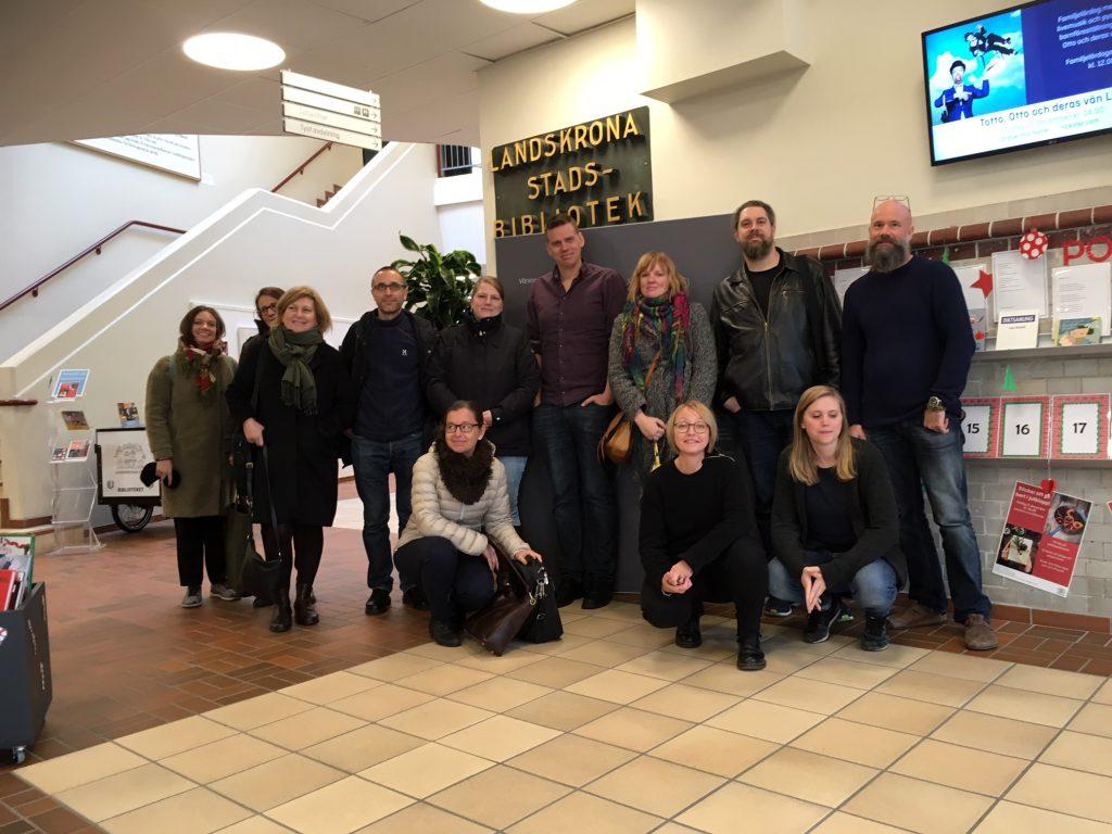 Gruppbild på nya operatörer från familjen Helsingborg