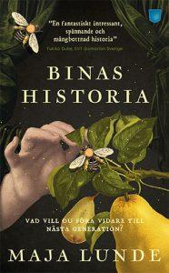Bokomslagsbild, målning med en människohand som håller i en gren med ett bi.