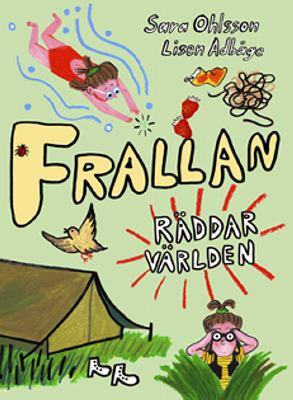 Bokomslag med illustration som föreställer boken huvudperson i olika situationer : kikande i en buske - dykande efter en skatt.